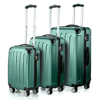 3Pcs Luggage Travel Set Bag w/TSA Lock ABS Trolley Spinner Carry On Suitcase AA+