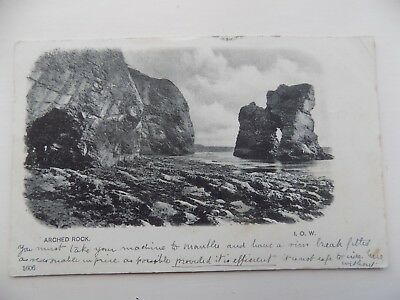 Arched Rock Isle of Wight 1903 Posted Vintage Old Postcard  c