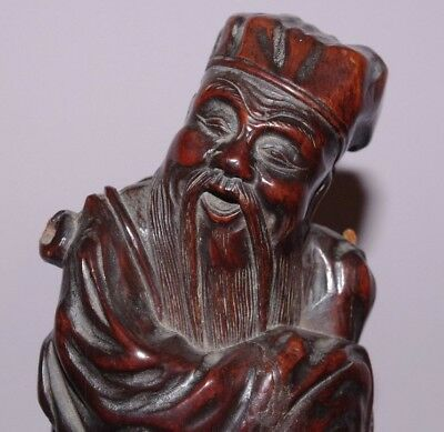 Superb 19Th Century Antique Chinese Carved Statue Of Immortal / Buddha Figure