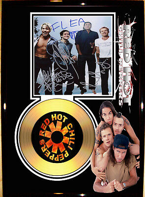 Red Hot Chilli Peppers - A4 Signed Framed Gold Vinyl Collectors Display Picture
