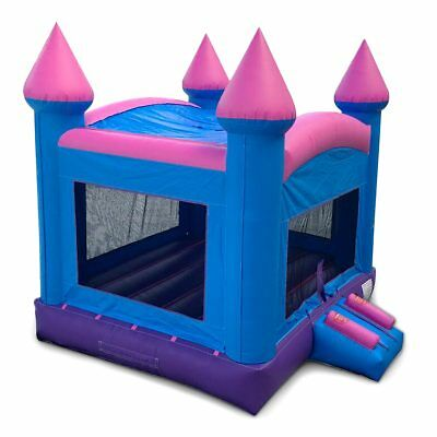 Inflatable Rhino Kids Bounce House Princess Dream Pink N Purple  Includes Stakes