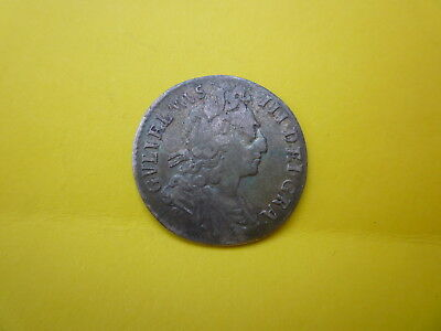William III Silver Coin Sixpence Dated 1697
