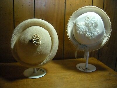 2 pc  lot Vintage Little Girls hats  adorable hats with flowers