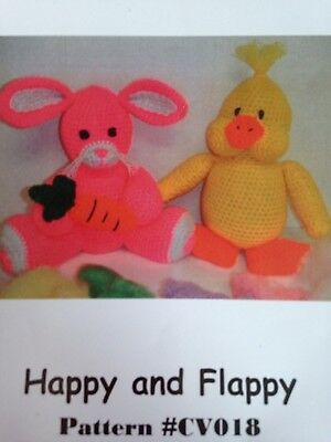 Crochet These 2 Cute Friends Bunny Duck Baby Toy