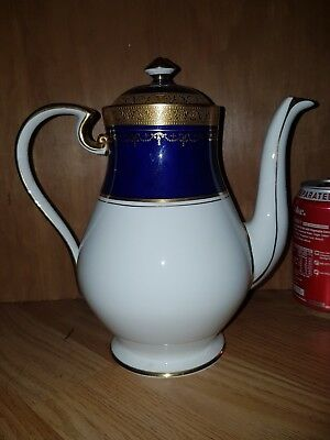 Aynsley 'georgian' Cobalt Blue Large Coffee Pot - Stunning