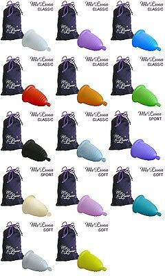 Me Luna Menstrual Cup - 8 sizes - 3 handles - 13 colours