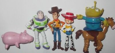 Disney Pixar Toy Story figures, Buzz, woody, jessie, bullseye,alien figures