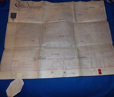 Vellum Indenture Related to the Lord Bishop of Chichester, 1850