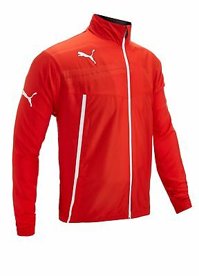 Puma King Woven Full Zip Jacket Red Large
