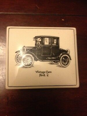 Gray's Pottery Vintage Cars Trinket Box Model T Ford