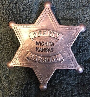 Deputy Marshal Badge -  Wichita Kansas - New Replica