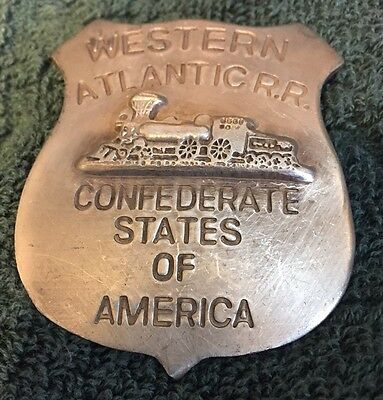 Confederate Rail Road Badge - New Replica