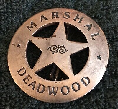 Marshal Badge - Deadwood - New Replica