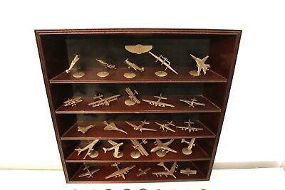 Pewter Franklin Mint World's Greatest Aircraft set lot 1987 with Display Case