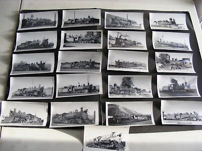 Lot of (20) Vintage Antique Railroad Photographs 1940s-1950s Steam Engines