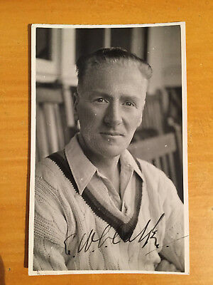 1934 EW Nobby Clark hand signed Press Photograph England 8 tests & Northampton