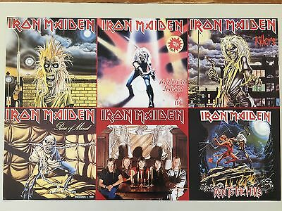 IRON MAIDEN,RECORD COVERS, MEGA RARE AUTHENTIC 1980's POSTER