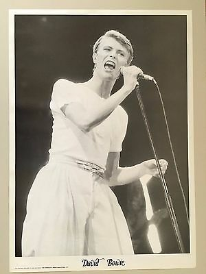 DAVID BOWIE, RARE AUTHENTIC 1980's  POSTER