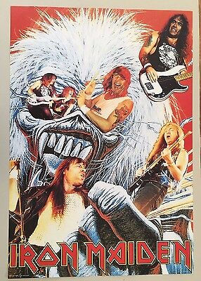 IRON MAIDEN,EDDIE AT THE BACKROUND,MEGA RARE AUTHENTIC 1980's POSTER