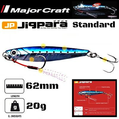MAJOR CRAFT CASTING JIG LURE JIGPARA STANDARD JPS-20 / 20g