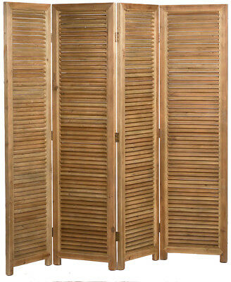 4 Panel Solid Wood  Room Screen Divider,80'' x 73''H