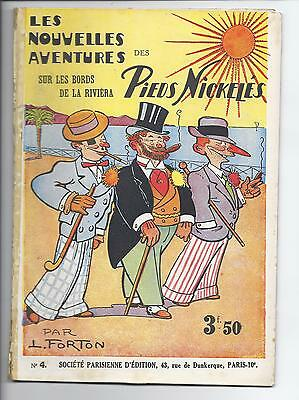 BD  Pieds Nickelés -Sur les bords de la Riviéra  -N°4-RE-1932-BE-Louis Forton