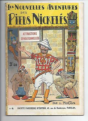 BD  Pieds Nickelés - Attraction sensationnelles -N°8-RE-1933-BE-L.Forton