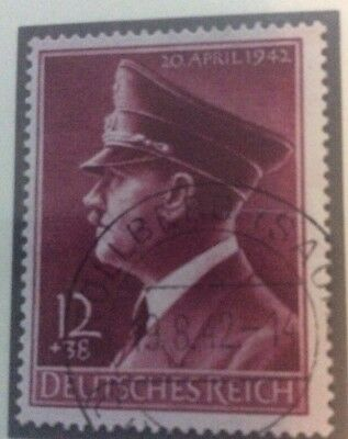 DR Germany 1942 Hitlers 53rd Birthday Fine Used