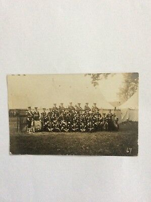 military band real photo postmarked Oxford