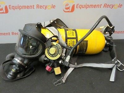 MSA Ultralite II Compressed Air Tank SCBA Harness Regulator Respirator Mask