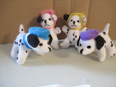 Mini Plush 101 Dalmations Springtime Basket of Puppies Lot Vintage Disney Mattel