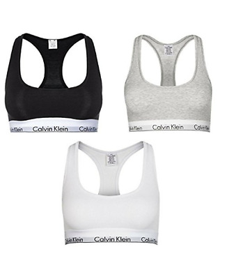 calvin klein damen bh bustier 3er set schwarz grau weiss s l original eur 23 90. Black Bedroom Furniture Sets. Home Design Ideas