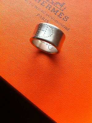 Bague HERMES Eclipse ruban taille 51