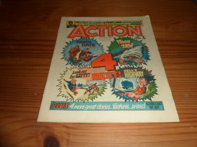 Action Comic 14Th August 1976 British Weekly,pre Ban Issue.