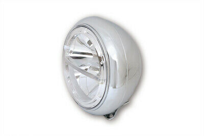 HIGHSIDER 7 Zoll VOYAGE HD-STYLE LED-Scheinwerfer, Metall, chrom