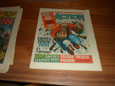 Classic Action Comic,31St July 1976 British Weekly,pre Ban Issue.