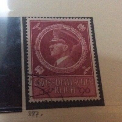 DR Germany 1944 Hitlers 55th Birthday Fine Used