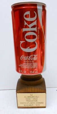 Rare Memento-First Coca-Cola Aluminum Can Produced South Atlantic Canning-1979