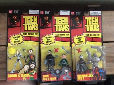 Teen Titans Figure Lot Of 6 New In Package Red X Gizmo Terra Cinderblock