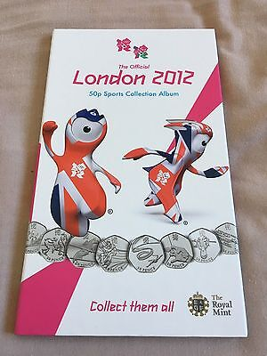Royal Mint ALBUM London Olympics 2012 50p sport coins collector