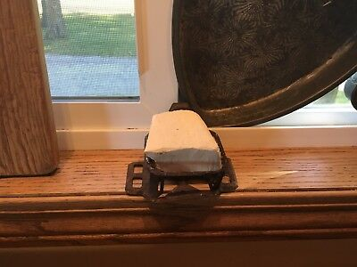 Moprimitivepast Primitive Aafa Vintage Lye Soap Chunk & Rusty Holder Farm  Cabin