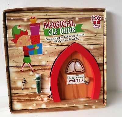 Magical Elf Door Elves Magic Props Xmas Fairy Dust Secret Key Santas Helper Home