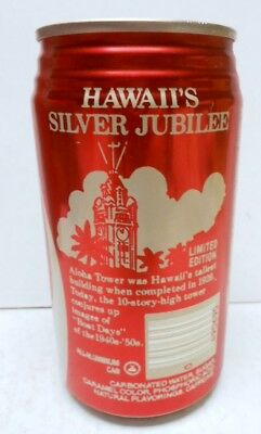 1984 Hawaii's Silver Jubilee Coca-Cola Can - Empty - Limited Edition - Good