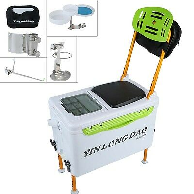 29L Multi-function Portable Insulated Fishing Box Storage Fish Seat us shipping