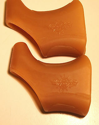 Nos Campagnolo brake hoods Nuovo/ Super Record  brown With the globe