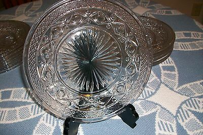 """6 Imperial Cape Cod Glass Plates 8""""  Mint"""
