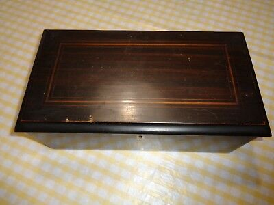 Antique Music Box!! 4 Song Vg Condition!!