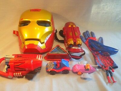 Marvel Collectible Toys Lot Spiderman Iron Man