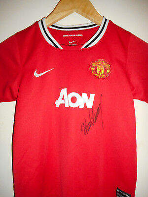 Man Utd signed football shirt by Rooney inc COA
