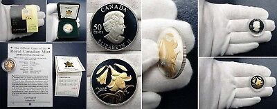 2004 Canada Easter Lily .925 Silver Proof 50 Cents - Cat. Ref. KM# 509 Scarce!